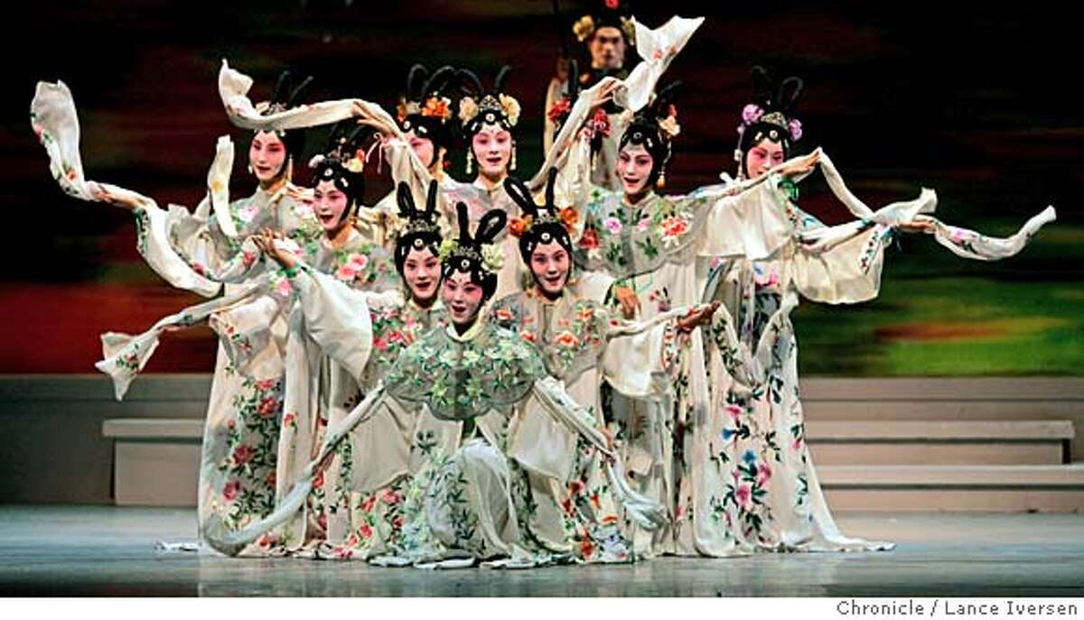 Cast members of a Chinese opera