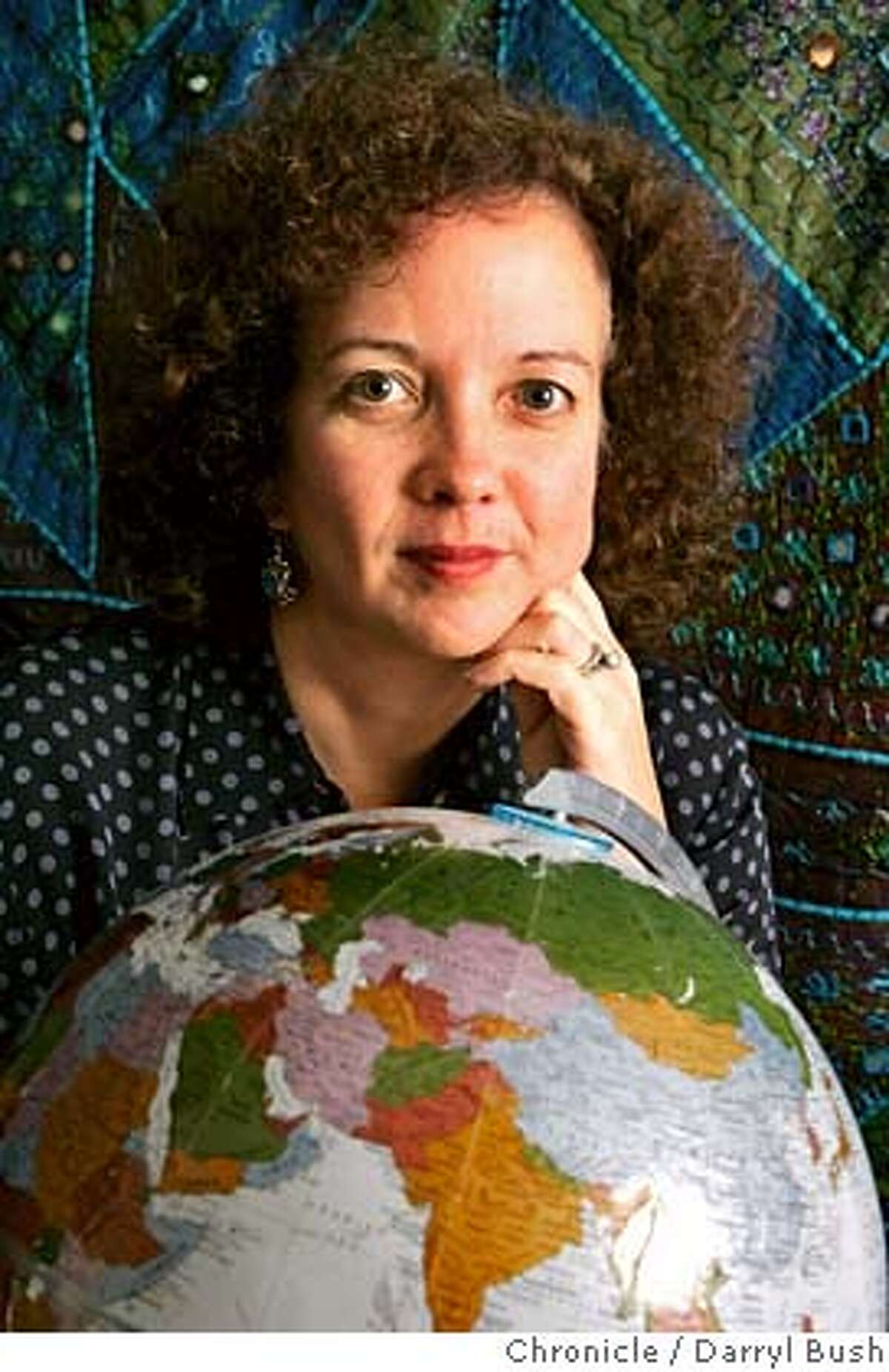 genius19_0002_db.JPG Dr. Victoria Hale, Founder & CEO of OneWorld Health sits near a globe at her office headquarters in San Francisco, CA on Friday, September 15, 2006. 9/15/06 Darryl Bush / The Chronicle ** (cq) MANDATORY CREDIT FOR PHOTOG AND SF CHRONICLE/ -MAGS OUT