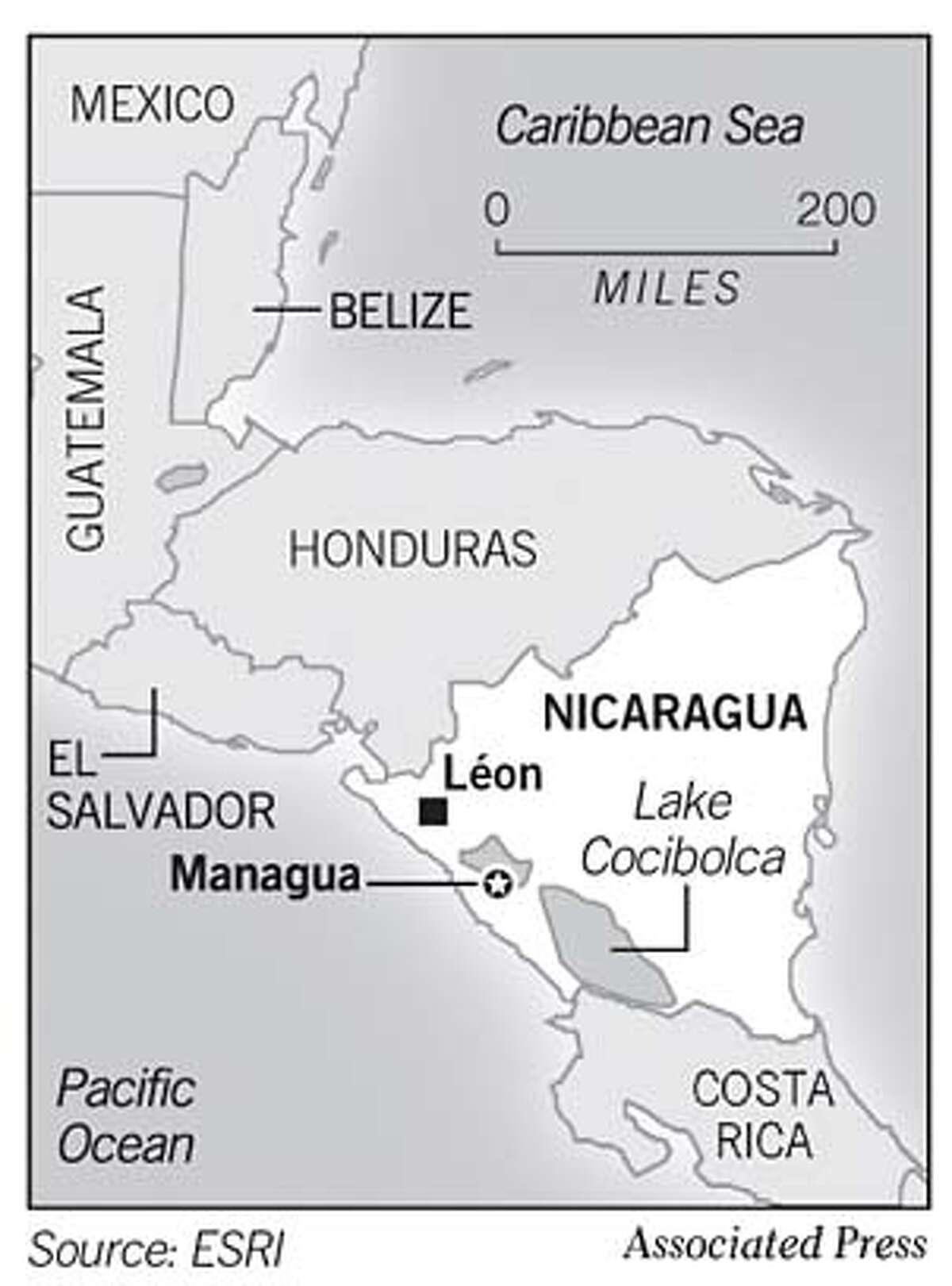 Nicaragua. Associated Press Graphic