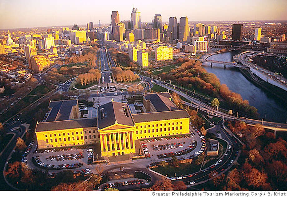 For TRAVEL PHILADELPHIA  One of the country's leading museums, the Philadelphia Museum of Art is modeled after a temple in the Greco-Roman style. Completed in 1928, the museum covers 10 acres and houses more than 300,000 works spanning 2,000 years. Photo by B. Krist, courtesy of Greater Philadelphia Tourism Marketing Corp. Photo: Sfc