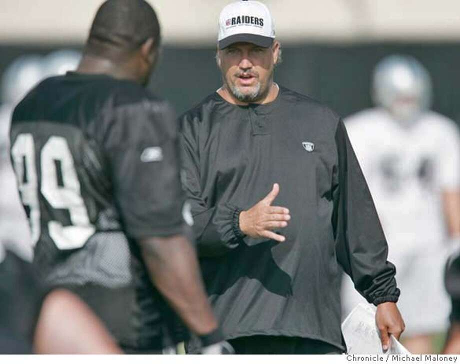 RAIDERS_036_MJM.jpg  Raider's defensive coordinator Rob Ryan.  The Oakland Raiders morning practice at their training facility in Napa.  Photo by Michael Maloney / San Francisco Chronicle MANDATORY CREDIT FOR PHOTOG AND SF CHRONICLE/ -MAGS OUT Photo: Michael Maloney