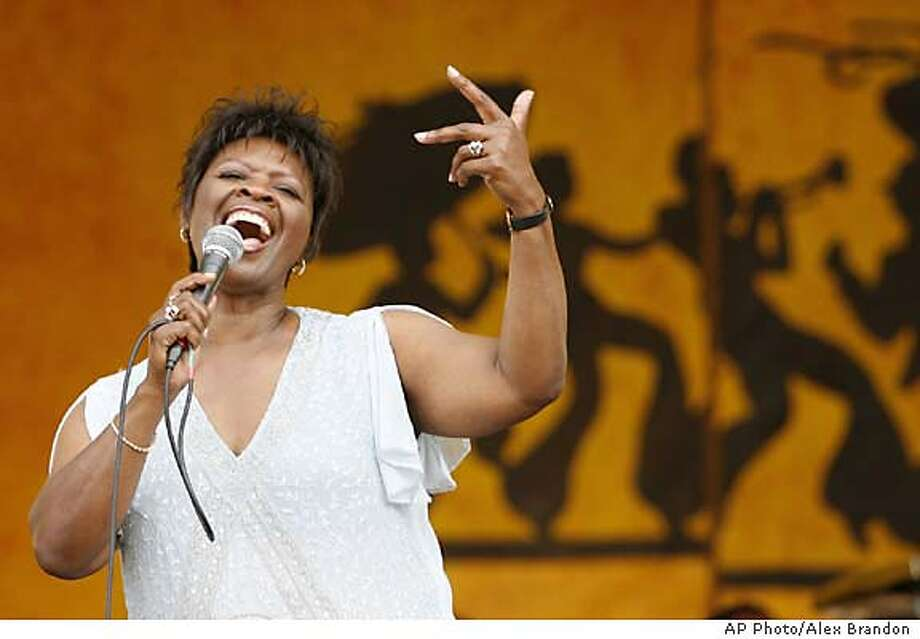 Irma Thomas performs during the 2006 New Orleans Jazz and Heritage Festival in New Orleans on Sunday, May 7, 2006. (AP Photo/Alex Brandon) Photo: ALEX BRANDON