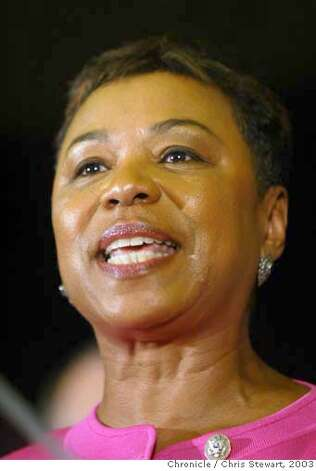 "davis373_cs.jpg Event of 9/19/03 in San Francisco Congresswoman Barbara Lee, Ninth District, joined California Governor Gray Davis, former Vice President Al Gore and other politicos at a ""Every Vote Counts"" voter registration rally at Plumbers Local 38 Union Hall, 1621 Market Street, SF. Chris Stewart / The Chronicle MANDATORY CREDIT FOR PHOTOG AND SF CHRONICLE/ -MAGS OUT Ran on: 06-26-2004 ALDO Ran on: 05-06-2005 #######0421407410 Photo: Chris Stewart"