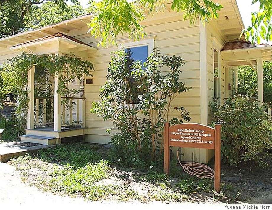 Burbank's cottage, Gold Ridge Farm Photo: Yvonne Michie Horn