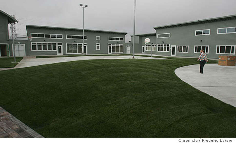 The inside court yard of the new San Mateo County state-of-the-art female youth facility and juvenile hall is a 300,000 sq-foot green-friendly facility which is the biggest construction project ever in the county, officials say. 9/8/06  {Frederic Larson/The Chronicle } Ran on: 09-15-2006  An inside courtyard of San Mateo County's new state-of-the-art youth facility and juvenile hall.  Ran on: 09-15-2006 Ran on: 09-15-2006 Ran on: 09-15-2006  An inside courtyard of San Mateo County's new state-of-the-art youth facility and juvenile hall. Photo: Frederic Larson