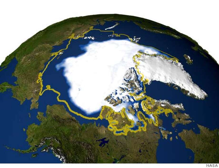 Sea ice minimum summer 2005 Photo: NASA