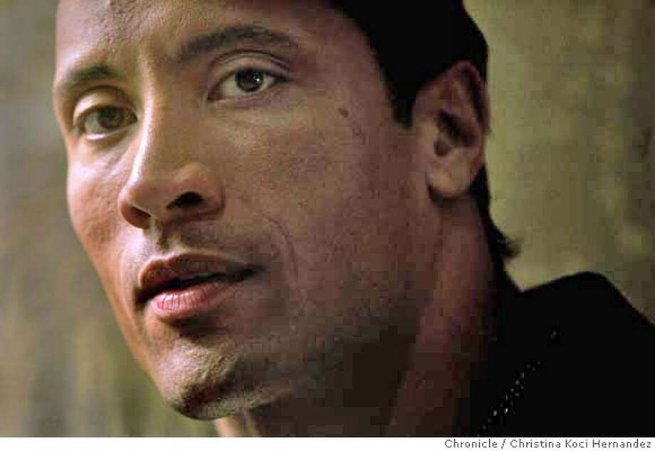 "Dwayne Johnson aka The Rock, is starring in the new film ""Gridiron Gang."" Photographed at the Ritz- Carlton, SF.(CHRISTINA KOCI HERNANDEZ/THE CHRONICLE) Mandatory Credit For Photographer and San Francisco Chronicle/No-Sales-Mags Out Photo: Christina Koci Hernandez"