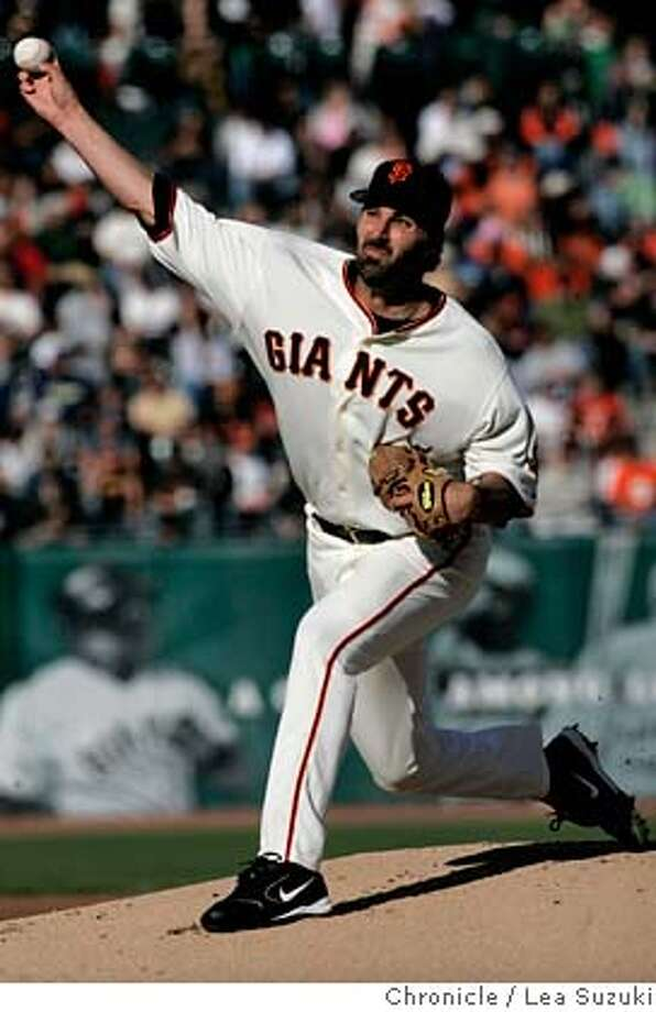 Giants Pitcher Matt Morris.  GIANTS Vs. Padres a AT&T park on Sunday, September 10, 2006.  Photo by Lea Suzuki/The San Francisco Chronicle  Photo taken on 9/10/06, in San Francisco, CA. **(themselves) cq. Photo: Lea Suzuki