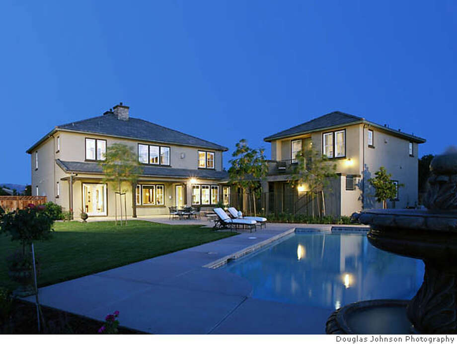 Rear Elevation of Residence 4 of Centex Homes' offering in Pleasanton, called Avignon. Photo: Douglas Johnson Photography