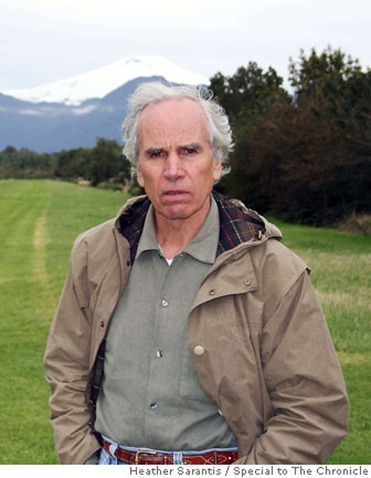 Doug Tompkins, founder of Esprit and The North Face stands on his land near Pumalin Park. He and his wife, Kristine McDivitt Tompkins, are using their fortune to protect some of Chile�s and Argentina�s most pristine ecosystems. Photo by Heather Sarantis/Special to The Chronicle