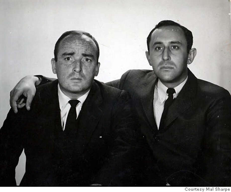 Pranksters Jim Coyle (left) and Mal Sharpe were known for their outrageous practical jokes on KGO. Photo courtesy of Mal Sharpe