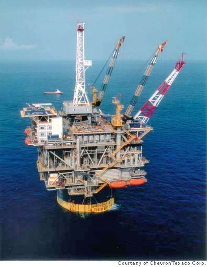 Photo of the Chevron Genesis Platform in the Gulf of Mexico. Photo: Courtesy Of ChevronTexaco Corp.