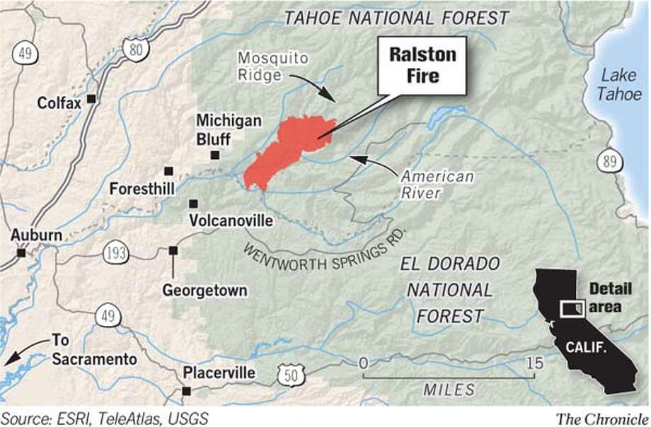 Ralston Fire. Chronicle Graphic