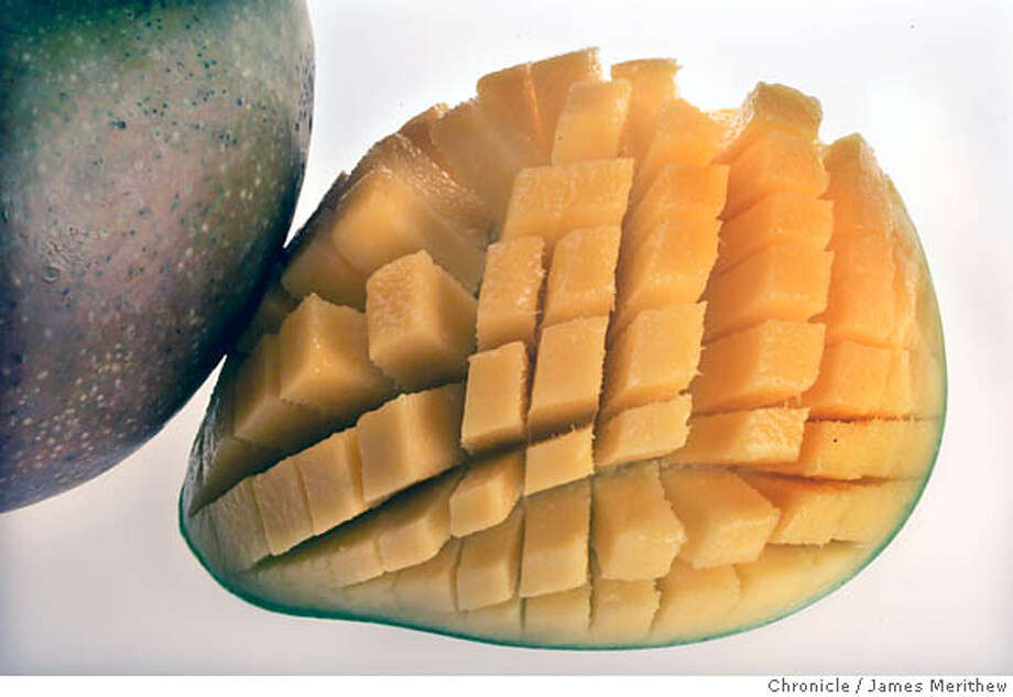 food01-090106-jmm008.JPG  Mango Sarah Fritsche will style.  Ran on: 09-06-2006  Mangoes impart a velvety texture and refreshing flavor to a gazpacho from San Miguel de Allende. Photo: JIM MERITHEW