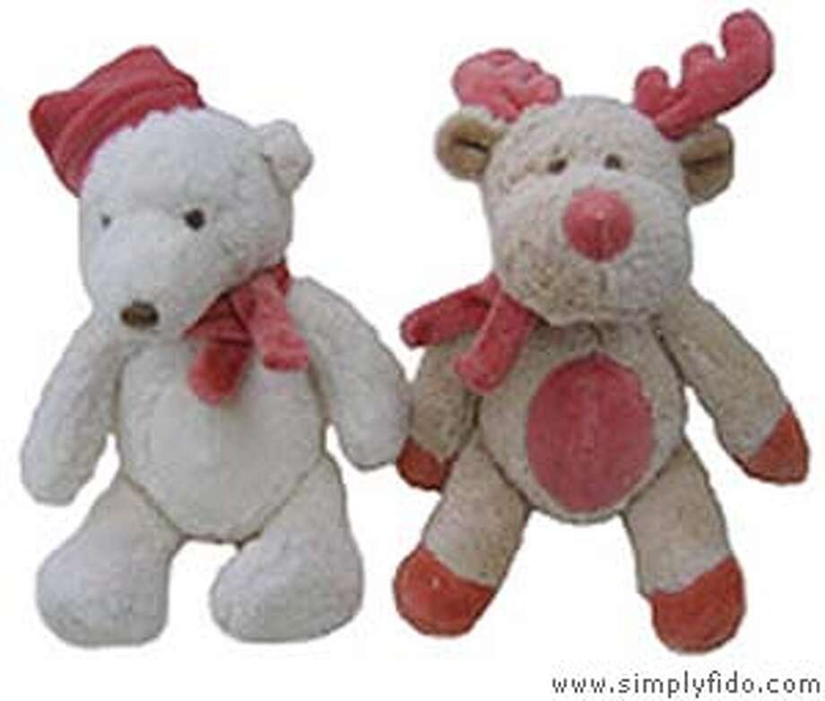 Holiday pet toys made from organic cotton and natural dyes, from  Simply Fido (http://www.simplyfido.com)