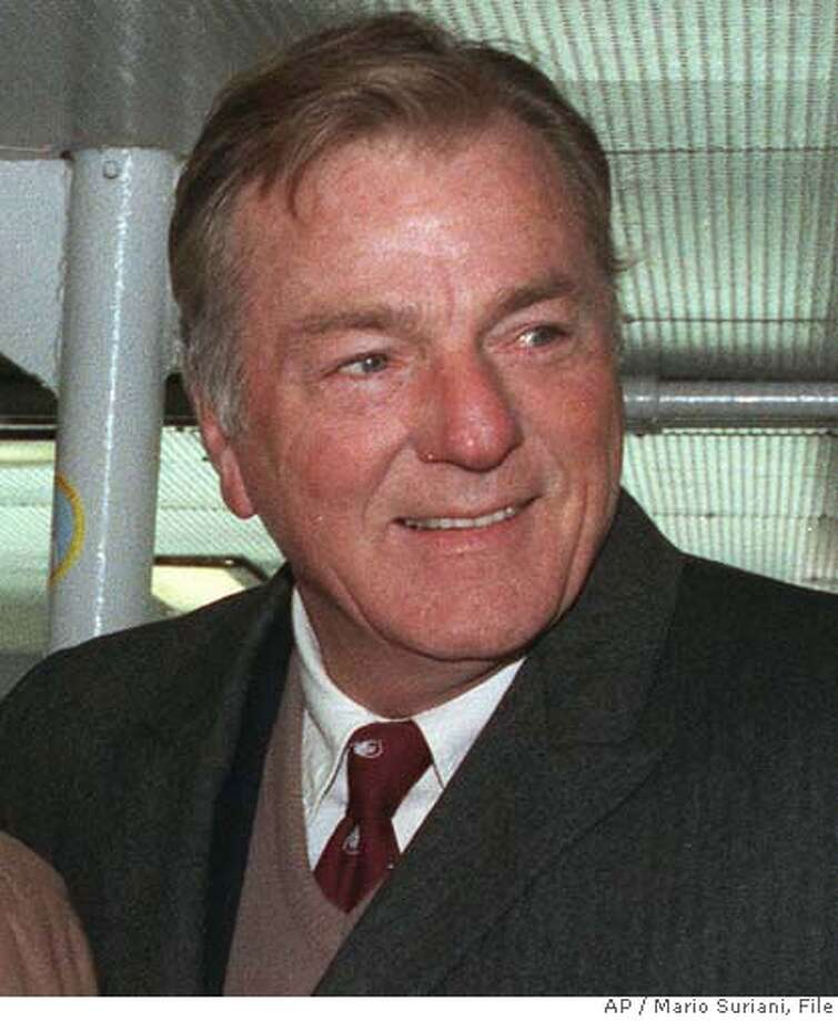 ** FILE ** Former Olympian Bob Mathias is shown in this Dec. 9, 1990 file photo in New York. Mathias, a two-time Olympic champion in the decathlon and former U.S. congressman, died Saturday, Sept. 2, 2006. He was 75. The U.S. Olympic Committee said in a statement that Mathias died in his home. A cause of death wasn't released. (AP Photo/Mario Suriani, file) DEC. 9, 1990 FILE PHOTO. BEST QUALITY AVAILABLE. Photo: MARIO SURIANI