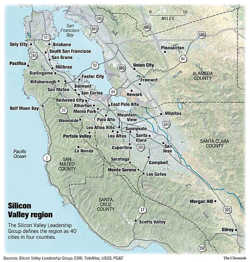 Silicon Valley Region. Chronicle Graphic