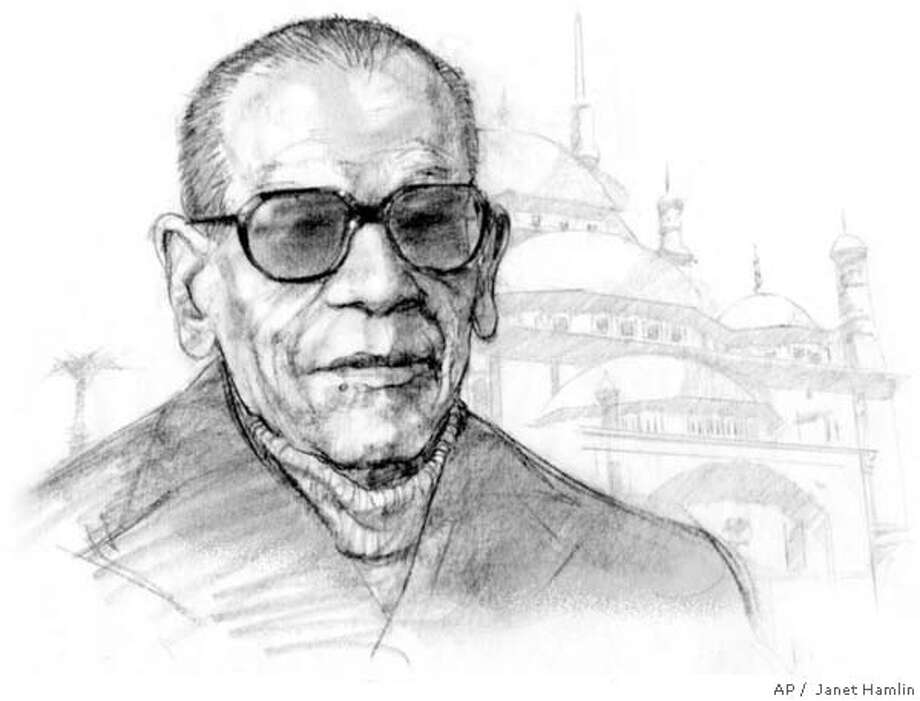 Naguib Mahfouz. Associated Press illustration by Janet Hamlin