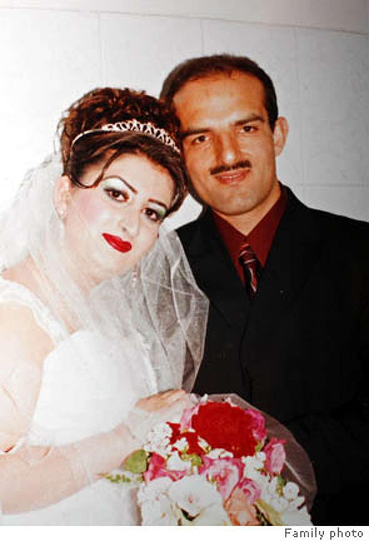 hitandrun_266_mac.jpg Wedding photo believed to be about two weeks old, showing Omeed Aziz Popal with his new bride Nahid, taken in Afghanistan. Hit and run victims in the Fremont area as well as San Francisco, 13 victims in all, one confirmed fatality in Fremont. Suspect Omeed Aziz Popal of Fremont Event in, Fremont, Ca, on 8/29/06. FAMILY HANDOUT Ran on: 08-30-2006 Ran on: 08-31-2006 Hit-run suspect Omeed Aziz Popal with his bride, Nahid, after their recent arranged marriage in Afghanistan. Ran on: 08-31-2006 Hit-run suspect Omeed Aziz Popal with his bride, Nahid, after their recent arranged marriage in Afghanistan.