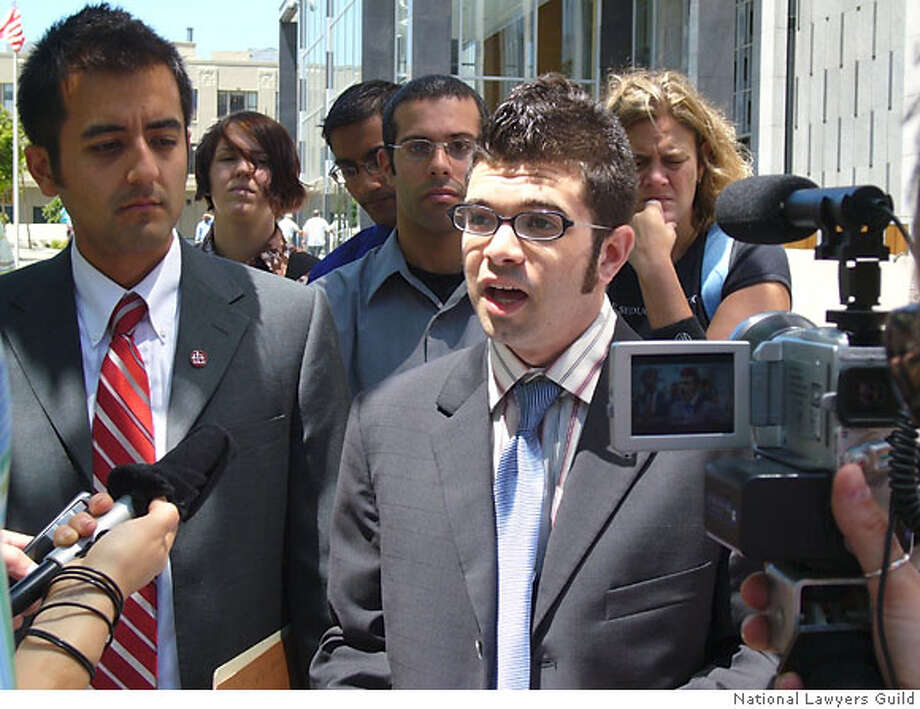 Photo of Josh Wolf, the freelance journalist who was jailed August 1, 2006 for refusing to turn over videos of a San Francisco protest. Story is slugged videos02. Source: National Lawyers Guild Photo: National Lawyers Guild