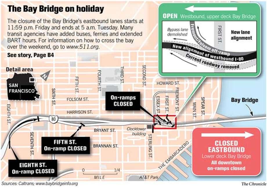 (A1) bay Bridge on Holiday