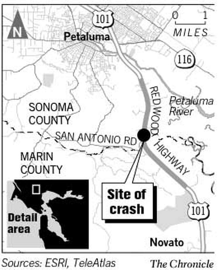 Site of Crash. Chronicle Graphic