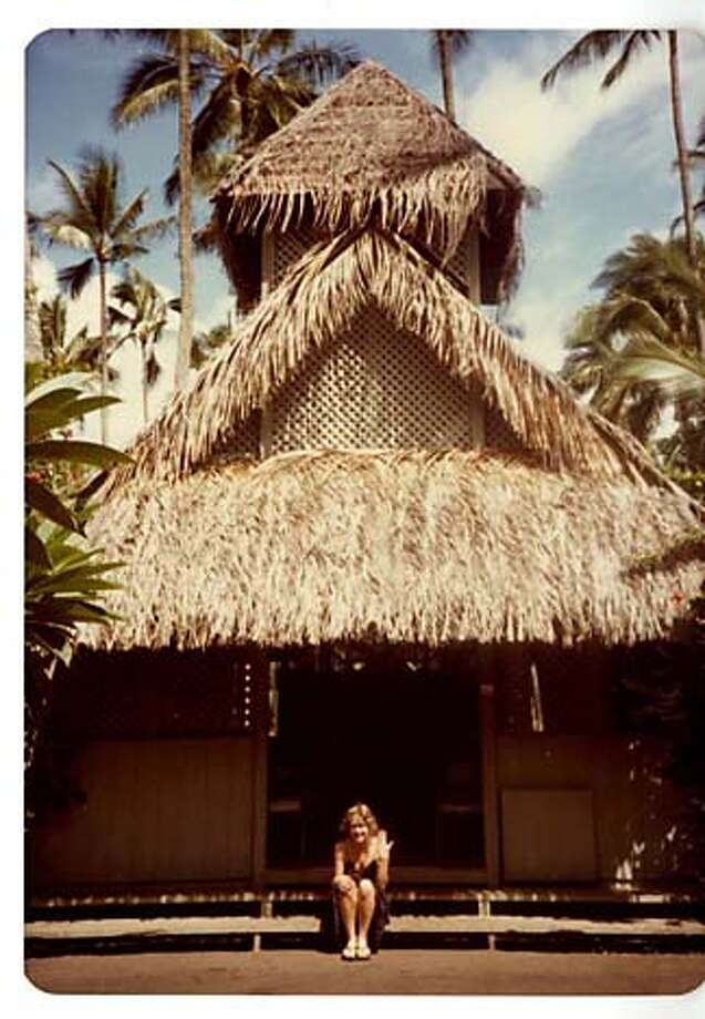 The wedding chapel will be rebuilt at another lagoon site. Photo, 1981, by Blair Jackson