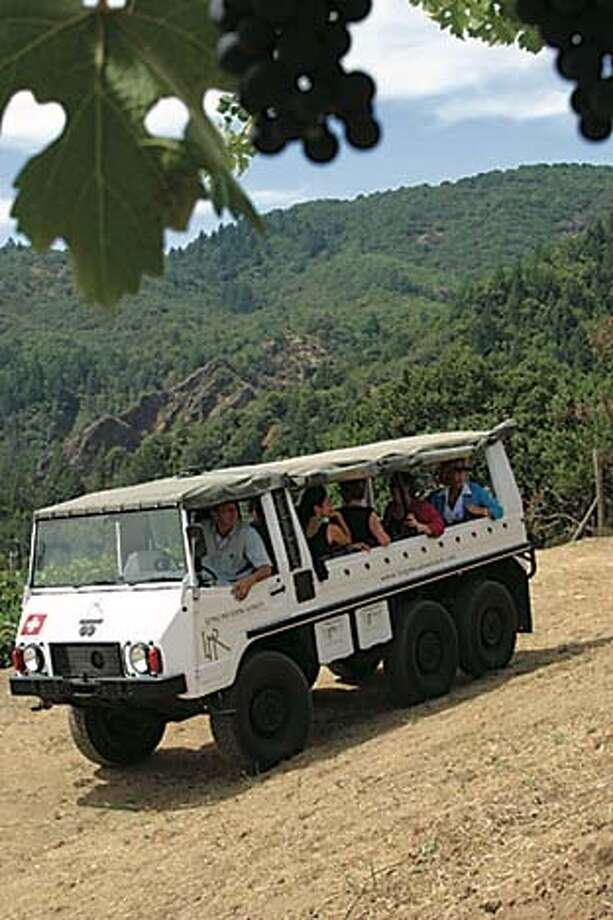 The most popular tour at Long Meadow Ranch is given in a Pinzgauer, an Austrian army vehicle. Photo courtesy of Long Meadow Ranch
