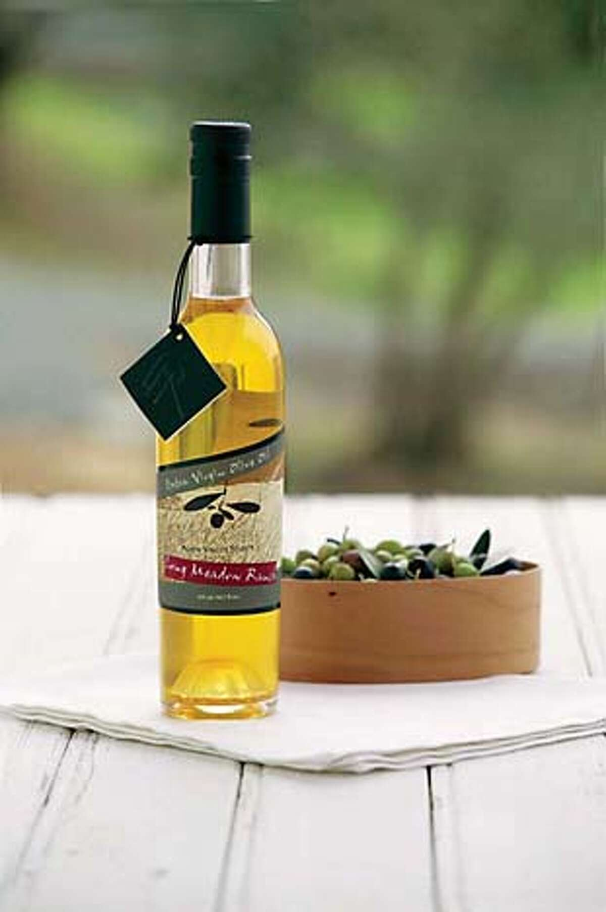 At Long Meadow Ranch, visitors can taste a variety of olive oils. Photo courtesy of Long Meadow Ranch
