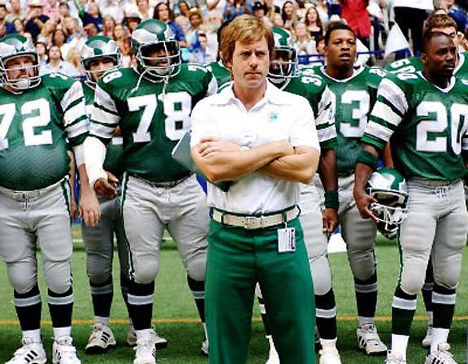 Greg Kinnear as Philadelphia Eagles coach Dick Vermeil in Invincible: not his usual wacky role. Photo courtesy of Walt Disney Pictures