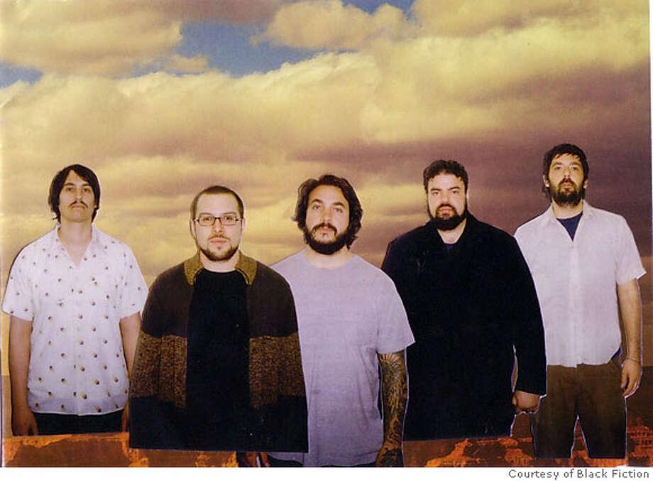 black fiction: From left to right: Jon Bernson, Jason Chavez, Evan Martin, Anthony Marin, and Tim Cohen. Photo: Courtesy Black Fiction