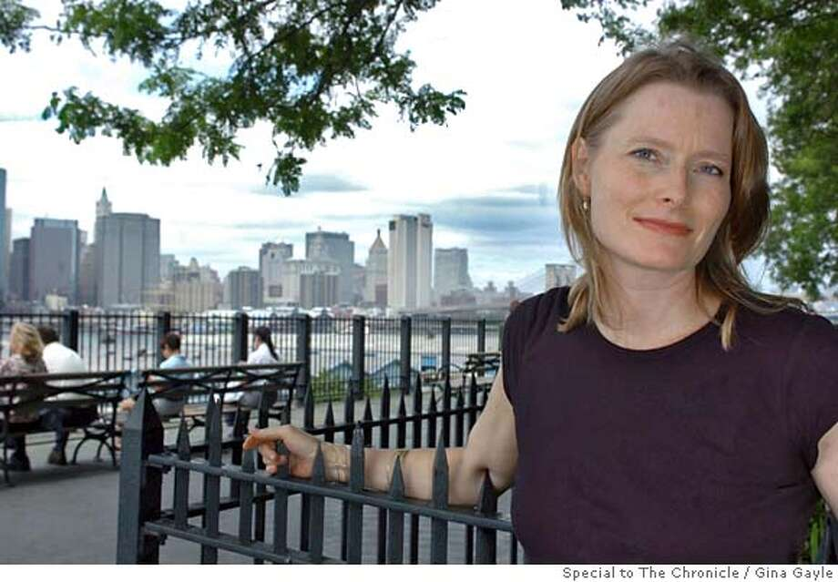 Author Jennifer Egan at the Brooklyn Promanade in Brooklyn, New York, overlooking lower Manhattan on Thursday, July 13, 2006. Her new book is entitled The Keep. Photo by Gina Gayle. Photo: Gina Gayle