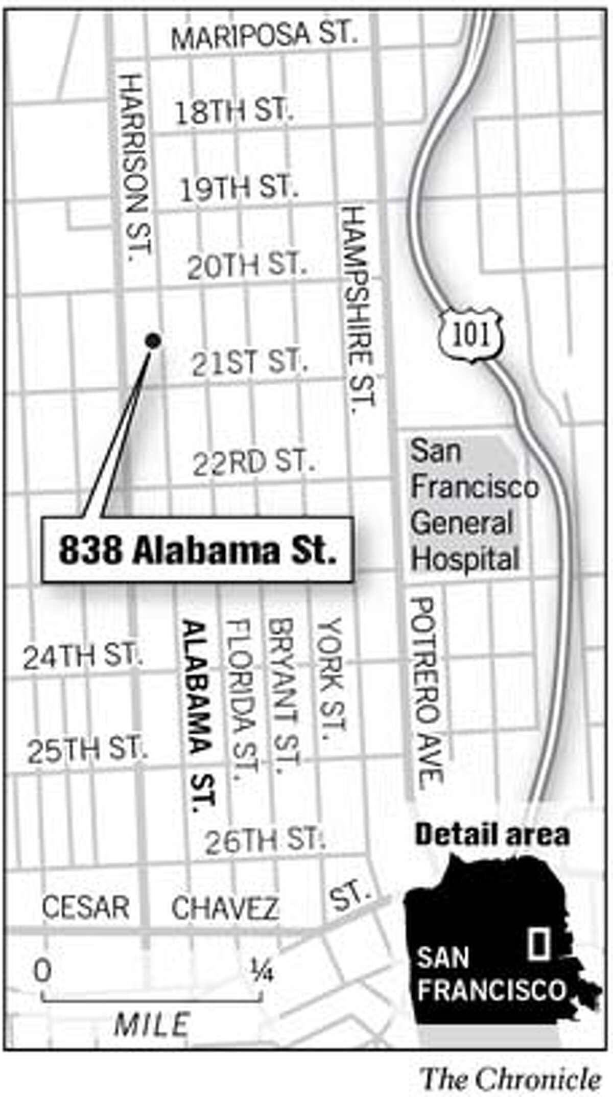 838 Alabama St. Chronicle Graphic
