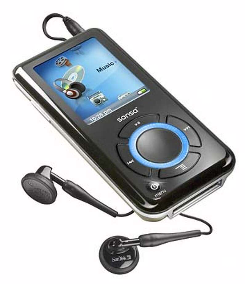 In this photograph released by the SanDisk Corporation, the 8-gigabyte Sansa e280 is shown Monday, Aug. 21, 2006. The $249 MP3 player also offers photo viewing and video clip playback capabilities. It has a microSD expansion slot allowing expansion to 10GB of music, or 2,500 songs, with an optional 2GB card. (AP Photo/SanDisk Corp.) ; STAND ALONE PHOTO Photo: AP Photo/SanDisk Corp.