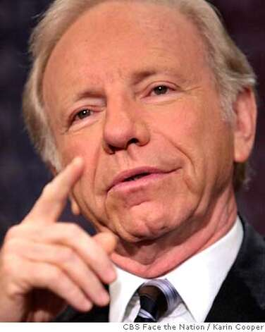 "In this photo provided by Face the Nation, Sen. Joseph Lieberman, D-Conn., listens to a question after appearing on CBS's ""Face the Nation"" in Washington, Sunday, Aug. 20, 2006. (AP Photo/CBS Face the Nation, Karin Cooper) KARIN COOPER, MANDATORY CREDIT: NO ARCHIVE, Photo: KARIN COOPER"