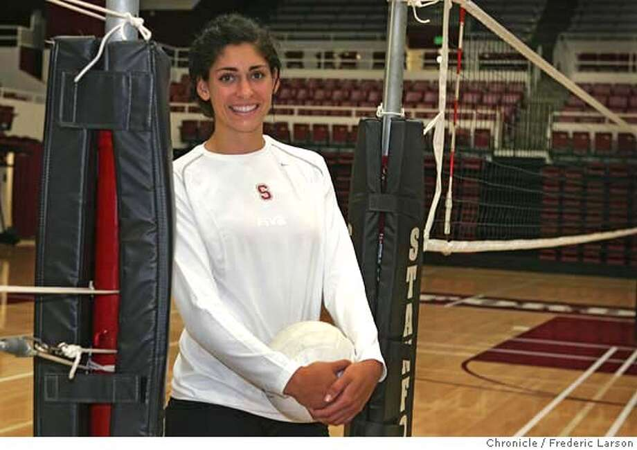 Cynthia Barboza, volleyball star was an alternate on the Olympic team but lost a year of competition at Stanford because of knee injury, but now she's recovered and figures to star for the Cardinal. ### Cynthia Barboza 8/15/06  {Frederic Larson/The Chronicle} MANDATORY CREDIT FOR PHOTOGRAPHER AND SAN FRANCISCO CHRONICLE/ -MAGS OUT Photo: Frederic Larson