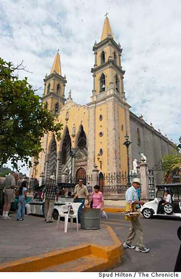 Mazatl�n, home to a cathedral completed in 1899, is one of many Mexican cities seeing an increase in flights from the United States. Chronicle file photo, 2004, by Spud Hilton
