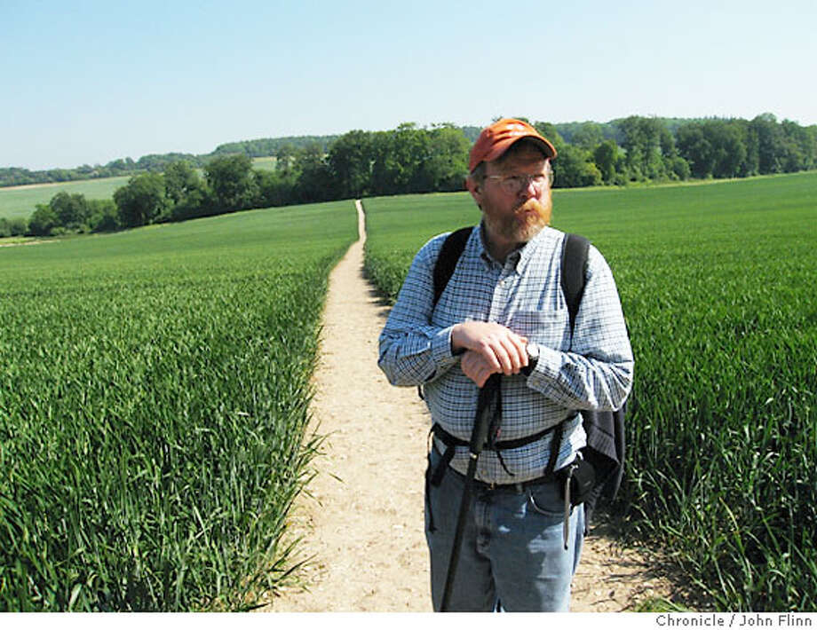 TRAVEL_RIDGEWAY -- Author Bill Bryson on the Ridgeway. Photo: John Flinn