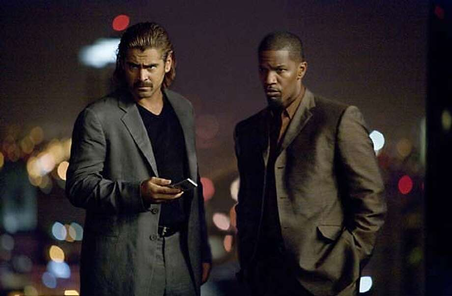 Colin Farrell as Detective Sonny Crockett and Jamie Foxx as Detective Ricardo Tubbs in Miami Vice Photo: Frank Connnor /