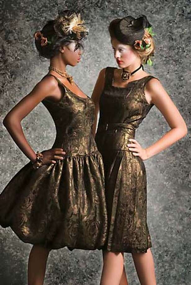 Gold dresses by designer Erin Mahoney to be shown at S.F. Fashion Week 2006 Photo: Name TK