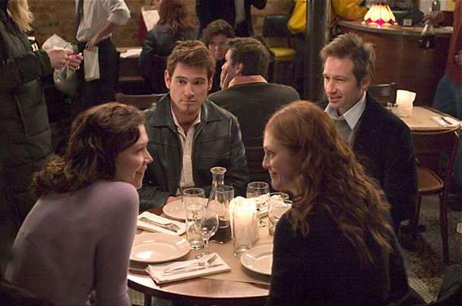 "Maggie Gyllenhaal, Bill Crudup, David Duchovney and Julianne Moore in ""Trust the Man"" Photo: Fox Searchlight"