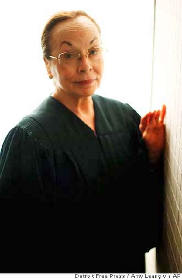 U.S. District Judge Anna Diggs Taylor is shown in Detroit, Aug. 3, 2006. Taylor ruled Thursday, Aug. 17, 2006 that the government's warrantless wiretapping program is unconstitutional and ordered an immediate halt to it. Taylor became the first judge to strike down the National Security Agency's program, which she says violates the rights to free speech and privacy as well as the separation of powers enshrined in the Constitution. (AP Photo/Detroit Free Press, Amy Leang) Photo: AMY LEANG