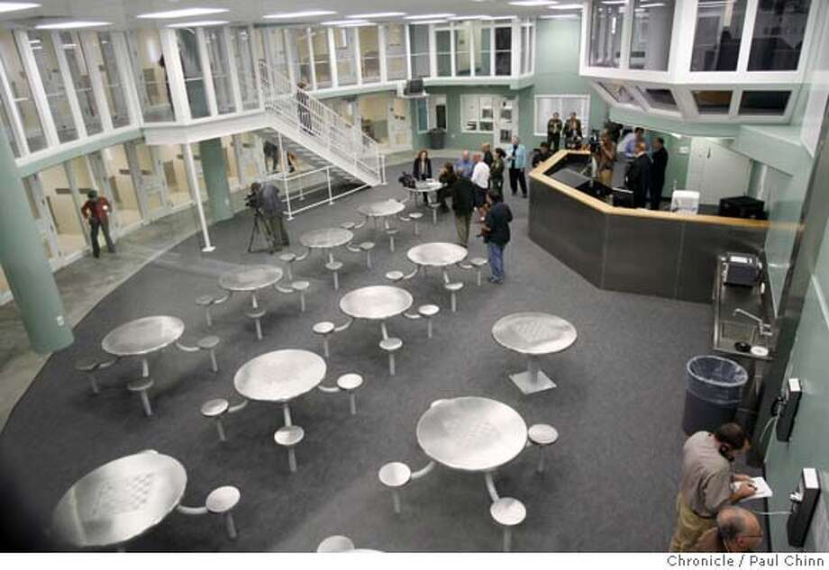 One of the new housing pods, which will accommodate up to 48 prisoners, is shown inside the new San Francisco County Jail #5 in San Bruno, Calif. on Wednesday, August 16, 2006. Under construction for the past six years, the new state-of-the-art facility replaces the aging Jail #3 which is scheduled for demolition in 2008.  PAUL CHINN/The Chronicle MANDATORY CREDIT FOR PHOTOGRAPHER AND S.F. CHRONICLE/ - MAGS OUT Photo: PAUL CHINN