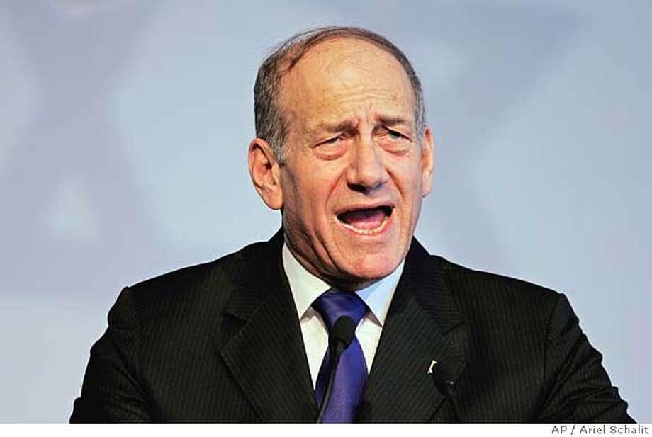Ehud Olmert Photo: ARIEL SCHALIT