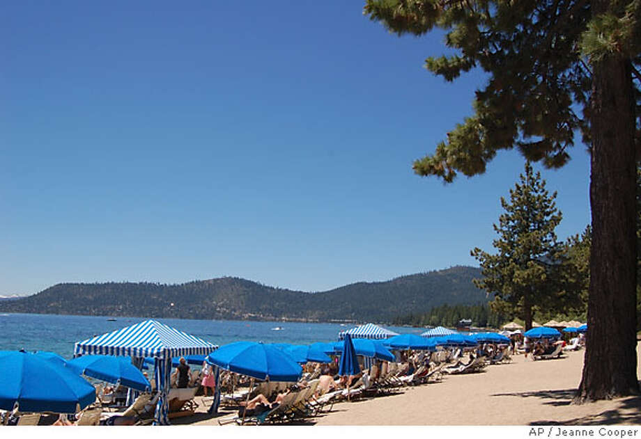 HOTELS_TAHOE  CREDIT: PHOTO: JEANNE COOPER  CAPTION: The private beach at the Hyatt Regency Lake Tahoe Resort, Spa and Casino in Incline Village, NV. Photo: Jeanne Cooper