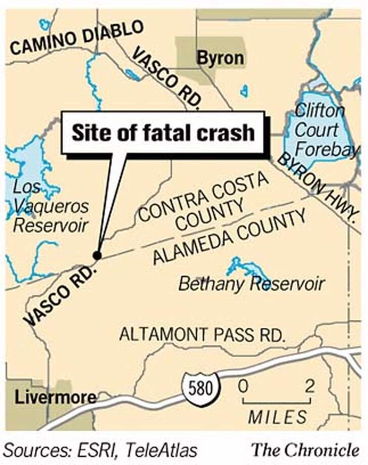 Site of Fatal Crash. Chronicle Graphic