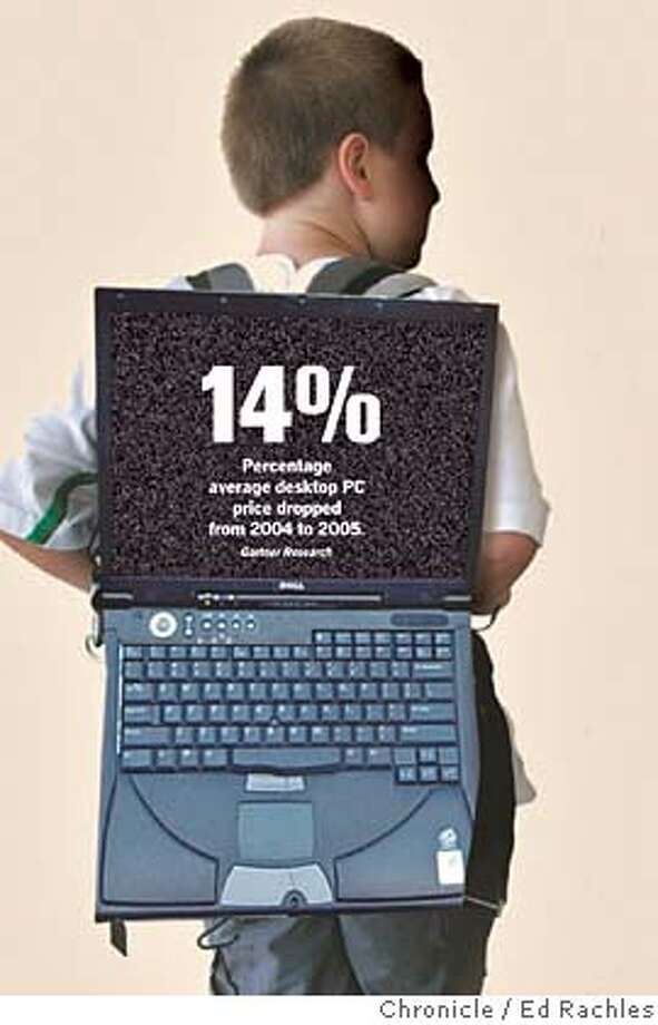 A 14% Percentage average desktop PC price dropped from 2004 to 2005, according to Gartner Research.