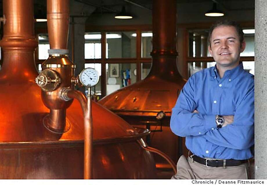 onthetown_fuller_0068_df.jpg  Torbin Fuller, (cq) President and Founder of Club Sportiva, is photographed at Anchor Steam Beer Brewery, one of his favorite places in the city. Photographed in San Francisco on 8/2/06.  (Deanne Fitzmaurice/ The Chronicle) Mandatory credit for photographer and San Francisco Chronicle. /Magazines out. Photo: Deanne Fitzmaurice