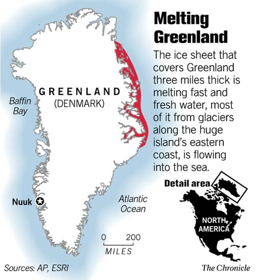 Sf Chronicle Classifieds: Greenland's Ice Cap Is Melting At A Frighteningly Fast