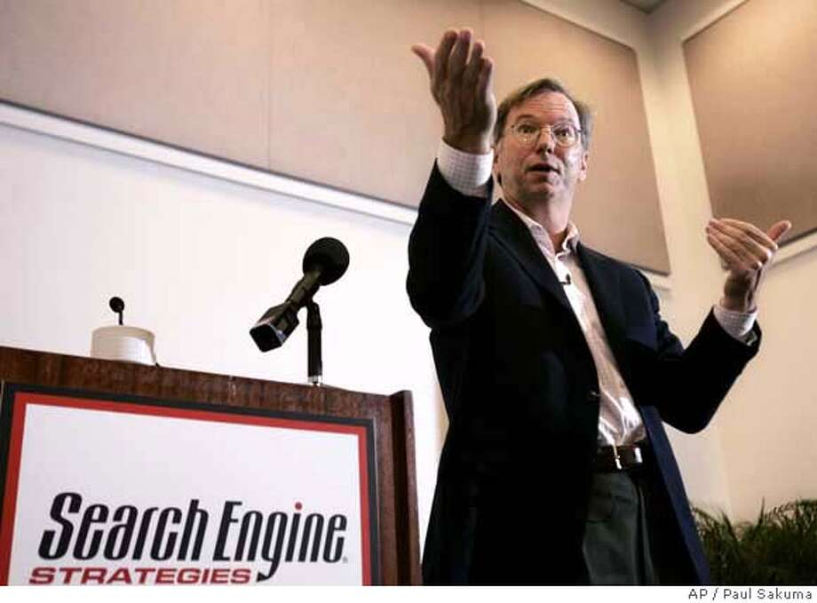 Google Eric Schmidt Photo: PAUL SAKUMA